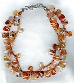 Carnelian drop necklace FAC1789