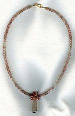 Faceted Oregon Sunstone drop necklace CC6157