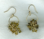 SPECIAL PURCHASE!!!  Faceted green Garnet bead earrings FAC8033