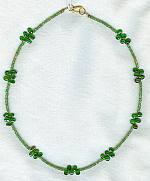 Faceted Tsavorite Garnet rondel and briolette necklace FAC1594