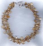 Citrine drop necklace FAC1812
