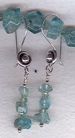 Faceted teal Apatite earrings FAC1814