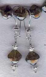 Grossular Garnet cushion earrings FAC1823