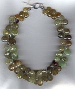 Faceted green Grossular Garnet briolette necklace CC6159