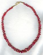 Faceted red Sapphire briolette necklace CC6160