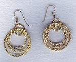 Vermeil hammered ring earrings FAC1958