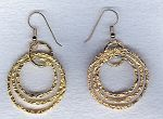 Vermeil hammered ring earrings FAC1959