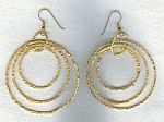 Vermeil hammered ring earrings FAC1961