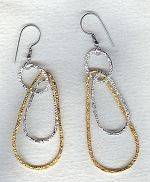 Vermeil/Silver hammered loop earrings FAC1962