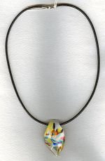 Yellow Venetian glass drop necklace VEN4229