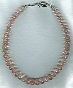 AAA quality, micro-faceted rose Quartz necklace CC6089