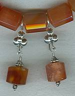 Natural Carnelian earrings FAC1614