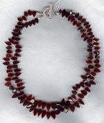 Garnet drop necklace FAC1828