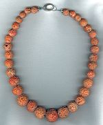 Natural Italian Coral rounds necklace CC6168