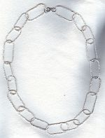 Hammered sterling silver loop necklace FAC1971