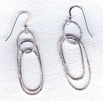 Silver loop earrings FAC1972