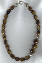Hexagon cocoa/caramel Agate barrel necklace FAC1975