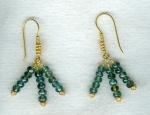 RARE!! Teal Tourmaline earrings CC6205