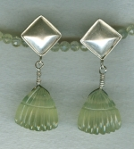 Phrenite fan earrings FAC8054