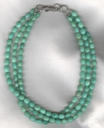 Chrysoprase oval necklace FAC8056