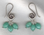 Chrysoprase oval earrings FAC8057