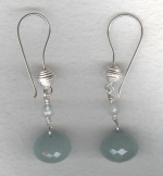 Aquamarine onion drop earrings FAC8060