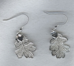 Silver leaf earrings FAC8063