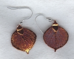 Copper Leaf earrings FAC8074