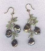 SPECIAL PURCHASE!! Keishi pearl and Peridot earrings PRL3205