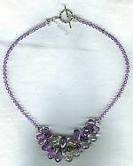 High quality faceted mint green and lavender Amethyst drop necklace FAC1505
