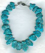 Sleeping Beauty Turquoise nugget Necklace NUG2378