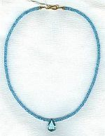 AAA quality 3mm Swiss blue Topaz necklace CC6092