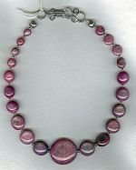 Star Ruby disk necklace CC6169