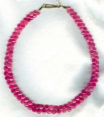 Smooth pink Sapphire briolette necklace CC6172