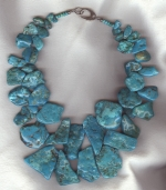 Mexican Turquoise nugget necklace NUG2741