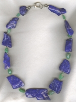 Lapis and faceted Chrysoprase necklace NUG2747