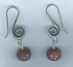 Raisin lampworked glass earrings VEN4291