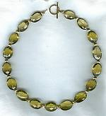 Faceted lemon Topaz oval Necklace FAC1513