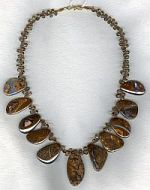 Boulder Opal and faceted Andalusite necklace CC6120