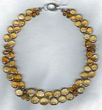 Faceted Citrine briolette necklace FAC1884