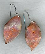 Bronze leaf earrings NUG2615