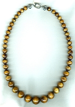 AA quality graduated natural gold Coral Necklace FAC1997