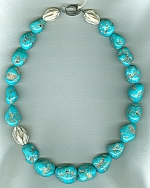 AA quality Sleeping Beauty Turquoise nugget Necklace NUG2696