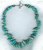 Natural graduated Turquoise teardrop necklace NUG2396