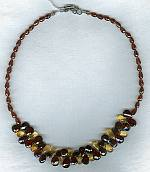 Garnet and Citrine necklace FAC1648