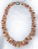 Marquise cut peach Moonstone drop necklace FAC1894