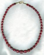 Faceted Ruby oval necklace FAC1898