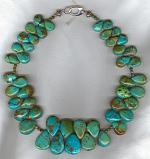 Natural Chinese Turquoise drop necklace NUG2629