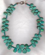 Natural Chinese Turquoise drop necklace NUG2630
