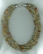 5 strand AAA quality Rutilated Quartz Necklace CC6180